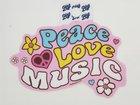 BLUE84 STICKER PEACE LOVE MUSIC